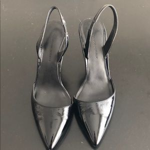 Banana Republic Black Patent Sling Backs
